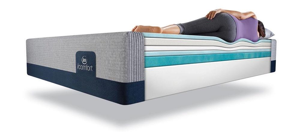 Serta iComfort cutaway showing layers of mattress