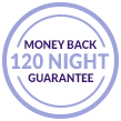 120 Night Money Back Guarantee graphic