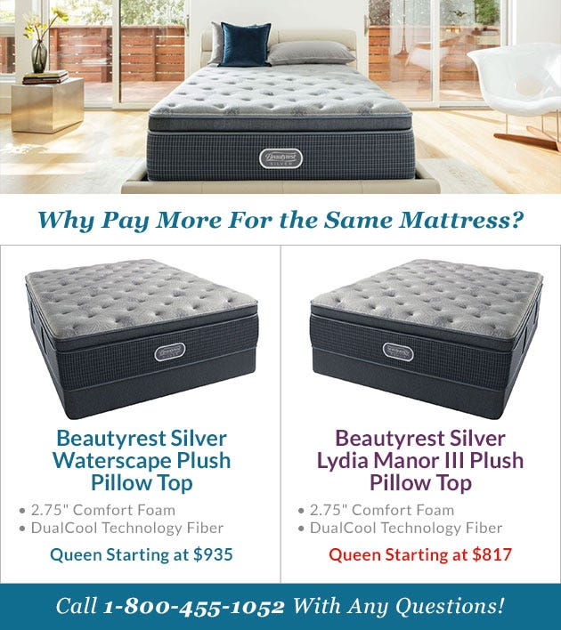 Comparing The Beautyrest Silver Waterscape Mattress
