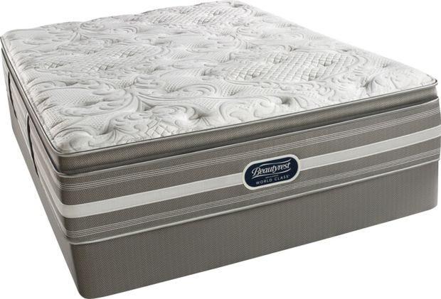 Simmons Beautyrest Recharge World Cl Phillipsburg Ii Plush Pillow Top Queen Size Mattress