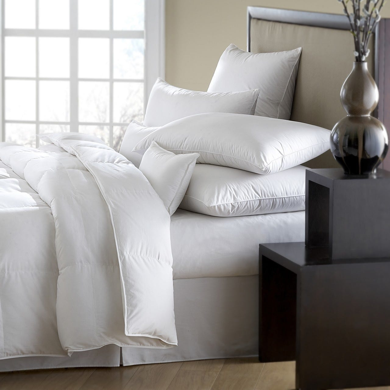 goose european fill white summer down comforter power