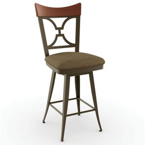 Amisco Brandy 34 Inch Swivel Counter Stool