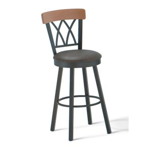 Amisco Brittany 34 Inch Swivel Bar Stool