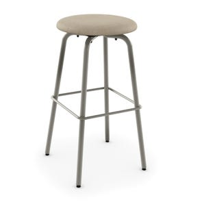 Amisco Button 34 Inch Swivel Counter Stool with Upholstered Seat