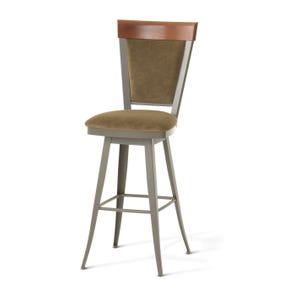 Amisco Eleanor 26 Inch Swivel Counter Stool