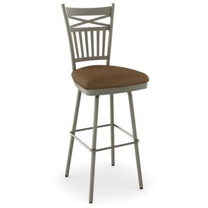 Amisco Garden 26 Inch Swivel Counter Stool