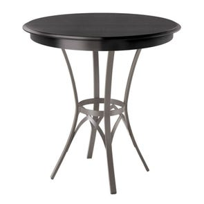 Amisco Kai Round or Square Wood Top Bar Height Table