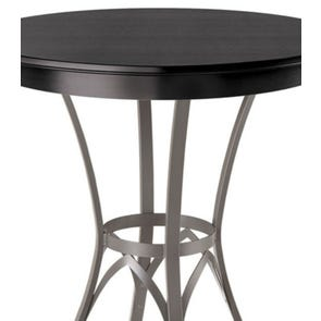 Amisco Kai Round or Square Wood Top Counter Height Table
