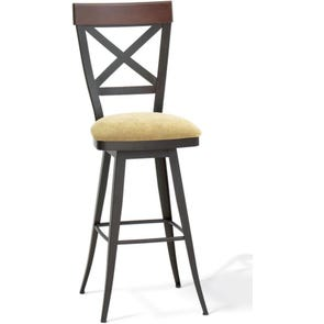 Amisco Kyle 26 Inch Swivel Counter Stool