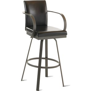 Amisco Lance 26 Inch Swivel Counter Stool