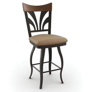 Amisco Peacock 26 Inch Swivel Counter Stool