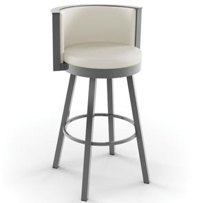 Amisco Refine 26 Inch Swivel Counter Stool
