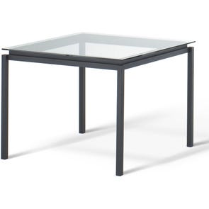 Amisco Spencer Square Glass Top Bar Table