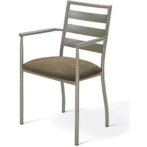 Amisco Tori Dining Arm Chair with Upholstered Seat Set of 2