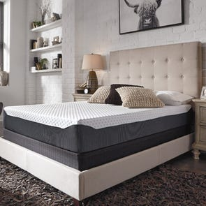 Queen Ashley Chime Elite 10 inch Memory Foam Firm Bed in a Box Mattress