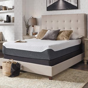 Queen Ashley Chime Elite 12 inch Memory Foam Firm Bed in a Box Mattress