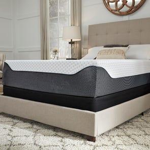 Queen Ashley Chime Elite 14 Inch Memory Foam Cushion Firm Bed in a Box Mattress