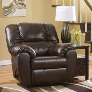 Signature Design by Ashley Dylan DuraBlend Rocker Recliner in Espresso
