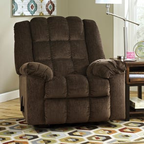 Signature Design by Ashley Ludden Rocker Recliner in Cocoa