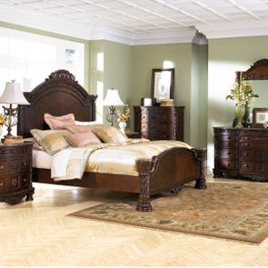 Signature Design by Ashley North Shore King 4 Piece Panel Bed Room Group