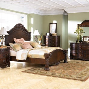 Signature Design by Ashley North Shore Queen 5 Piece Panel Bed Room Group