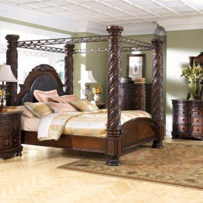 Signature Design by Ashley North Shore Cal King 5 Piece Poster Bed Room Group