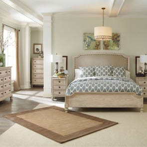 Signature Design by Ashley Pastoral Charm Demarlos 4 Piece Queen Bedroom Group
