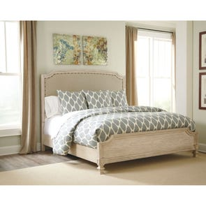 Signature Design by Ashley Pastoral Charm Demarlos Queen Size Panel Bed with Upholstered Headboard