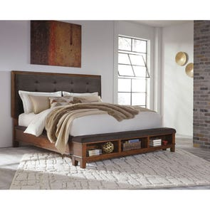 Signature Design by Ashley Ralene Queen Size Upholstered Bed with Storage Footboard