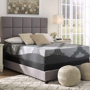 Queen Ashley Sierra Sleep 12 Inch Hybrid 1200 Plush Bed in a Box