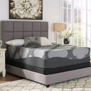 Queen Ashley Sierra Sleep 14 Inch Hybrid 1400 Ultra Plush Bed in a Box