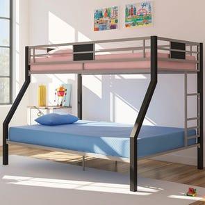 Twin Ashley Sierra Sleep iKidz Memory Foam Blue Firm Bed in a Box Mattress