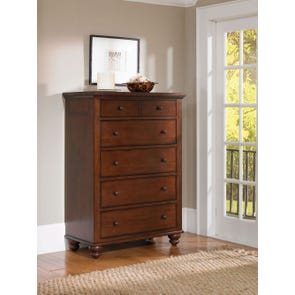 aspenhome Cambridge Chest in Brown Cherry