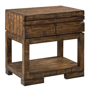 aspenhome Dimensions 1 Drawer Nightstand in Spiced Rum