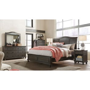aspenhome Oxford Cal King Sleigh Bed in Peppercorn