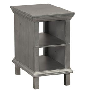 aspenhome Preferences Chairside Table in Metallic