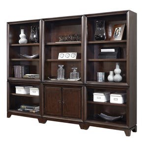 aspenhome Viewscape 84 Inch Bookcase Wall