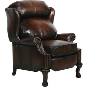 Barcalounger Danbury II Recliner in Stetson Coffee