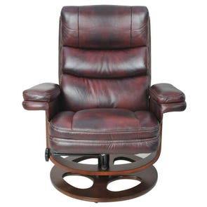 Barcalounger Pedestal Recliners Bella II Recliner in Plymouth Mahogany