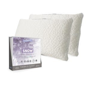 Protect-A-Bed Snow Mattress Pad with 2 Free Queen Snow Pillows