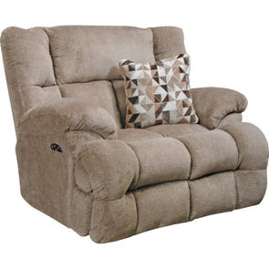 Catnapper Brice Lay Flat Power Recliner with Power Headrest in Chateau