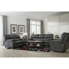 Catnapper Camden Reclining Gliding Console Loveseat in Steel
