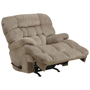 Catnapper Colson Chaise Rocker Recliner with Heat and Massage in Driftwood