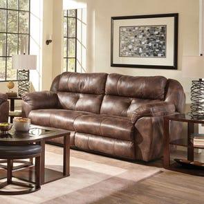 Catnapper Ferrington Power Lay Flat Reclining Sofa with Power Headrest in Dusk