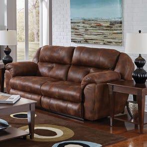 Catnapper Ferrington Power Lay Flat Reclining Sofa with Power Headrest in Sunset