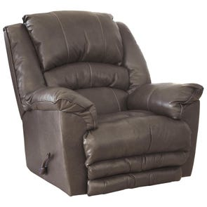 Catnapper Filmore Chaise Rocker Recliner with Oversized Xtra Comfort Footrest in Smoke