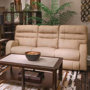 Catnapper Kelsey Power Lay Flat Reclining Sofa with Power Headrest in Doe