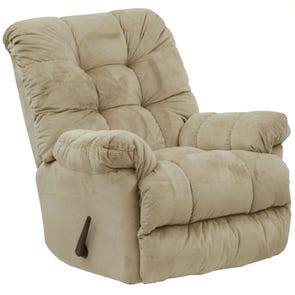 Catnapper Nettles Chaise Rocker Recliner with Deluxe Heat and Massage in Doe