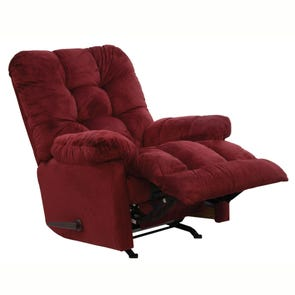 Catnapper Nettles Chaise Rocker Recliner with Deluxe Heat and Massage in Merlot