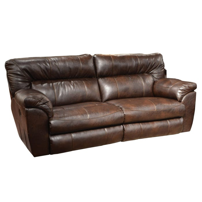 Peachy Catnapper Nolan Extra Wide Leather Reclining Sofa In Godiva With Power Option Bralicious Painted Fabric Chair Ideas Braliciousco